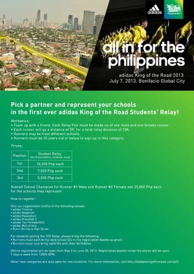 KOTR School Relay 2013