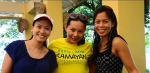 Angela Villaceran, Yours truly and Liz Ejercito-Dimaandal.