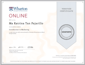 Wharton Certificate